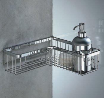 portaoggetti doccia in acciaio inox