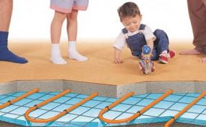 sistema di riscaldamento a pavimento in bagno